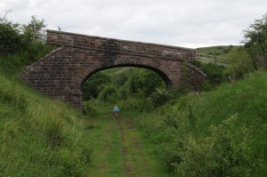 Stone overbridge on the railway walk